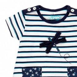vestido bebe de verano a rayas marino