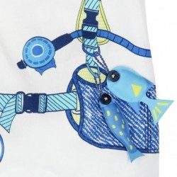 pelele bebe boboli submarinista blanco y azul