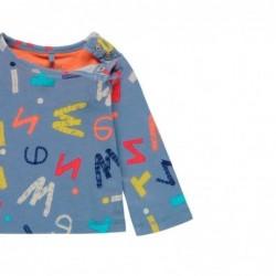 camiseta bebe boboli azul con letras