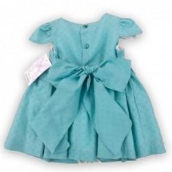 vestido bebe de vestir verde agua atelier de candela