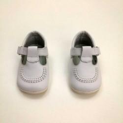 zapatos bebe leon shoes de piel blancos sin suela