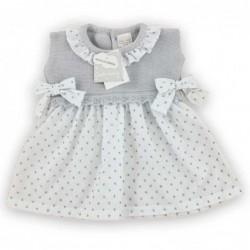 vestido bebe guti baby de plumeti gris