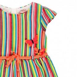 vestido bebe de verano a rayas multicolor