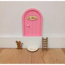 puerta raton perez rosa pastel