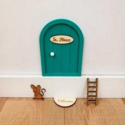 puerta raton perez verde agua