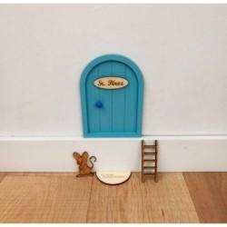 puerta raton perez azul claro niña y niño