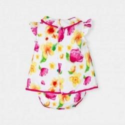 vestido bebe con braguita de verano de flores