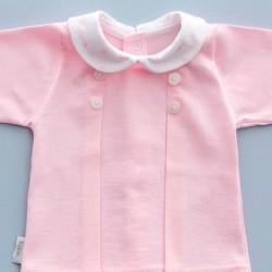 camiseta conjunto bebe babidu rosa y estrellas