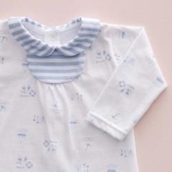 detalle camiseta conjunto punto bebe de babidu azul beach