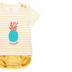 conjunto bebe boboli amarillo pomelo