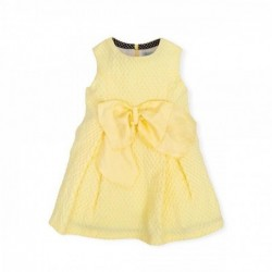 vestido niña amarillo con lazo de tutto piccolo
