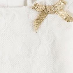vestido bebe boboli de tul color marfil