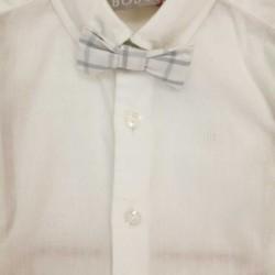 pantalón y camisa de bebe boboli blanco con pajarita