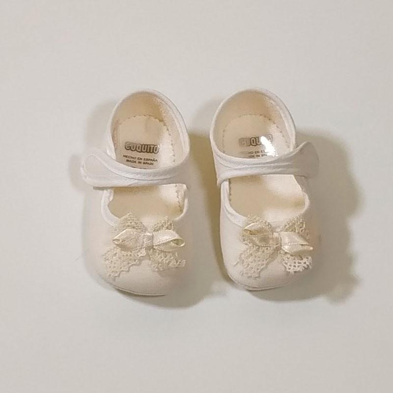 merceditas bebe niña beige de cuquito