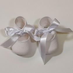 zapatos bebé niña de bautizo blancos de cuquito