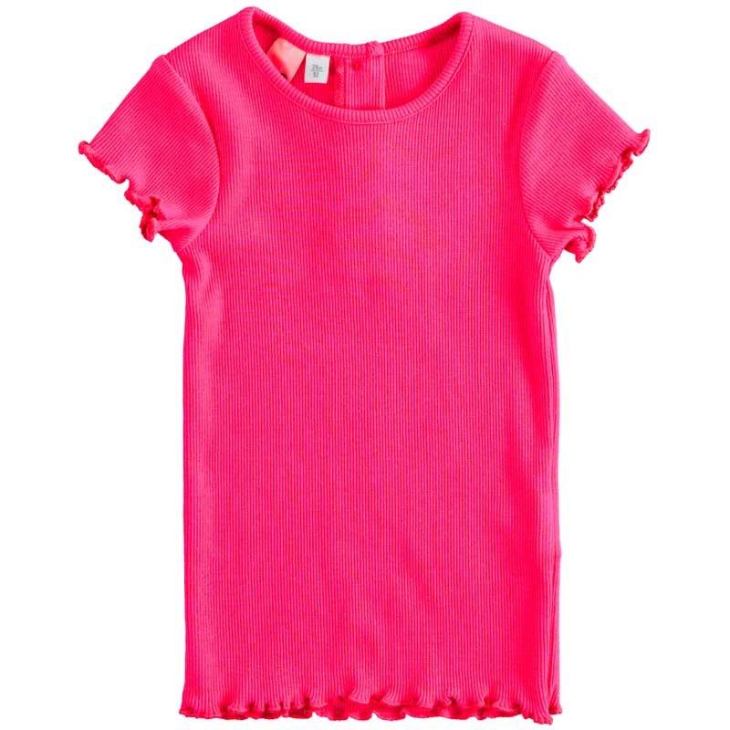 camiseta niña de garcia jeans naranja fluor estampada