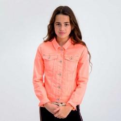 chaqueta niña vaquera color naranja fluor