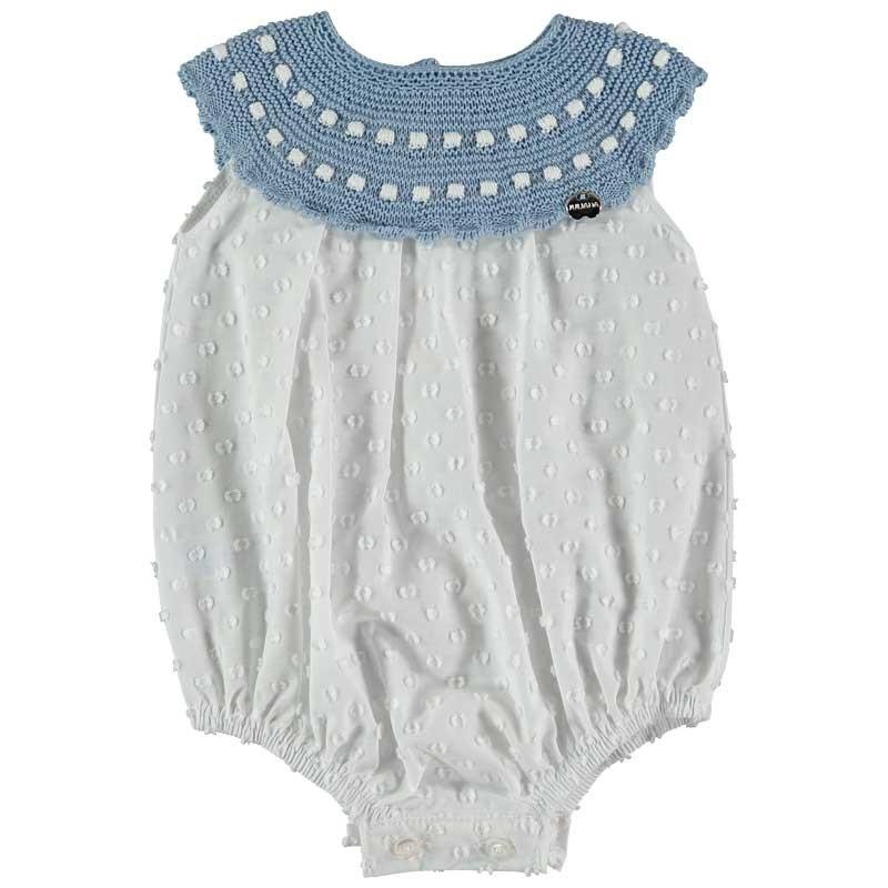 pelele bebe de juliana azul con plumeti
