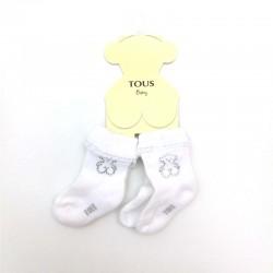 Calcetines bebé blancos con...