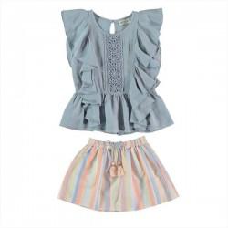 Conjunto ropa niña de blusa...