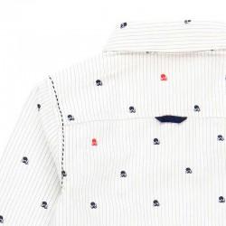 detalle por detras estampado pulpos en camisa niño boboli