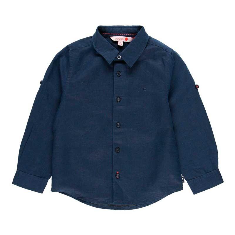 camisa niño boboli azul marino de vestir