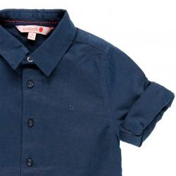 detalle manga camisa niño boboli azul marino de vestir