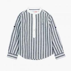 Camisa niño de lino a rayas...