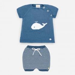 conjunto bebe ballena de punto azul paz rodriguez