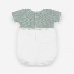 pelele bebe de punto verde paz rodriguez