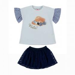 conjunto niña bimbalina de falda y camiseta