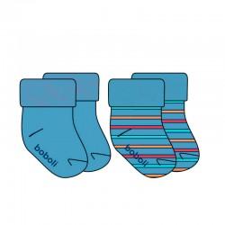 Calcetines de bebé azules y...