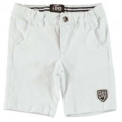 Pantalón corto niño blanco...