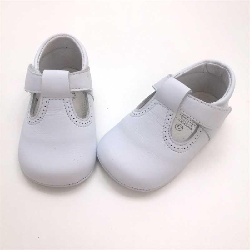 zapatos bebe sin suela blancos de leon shoes