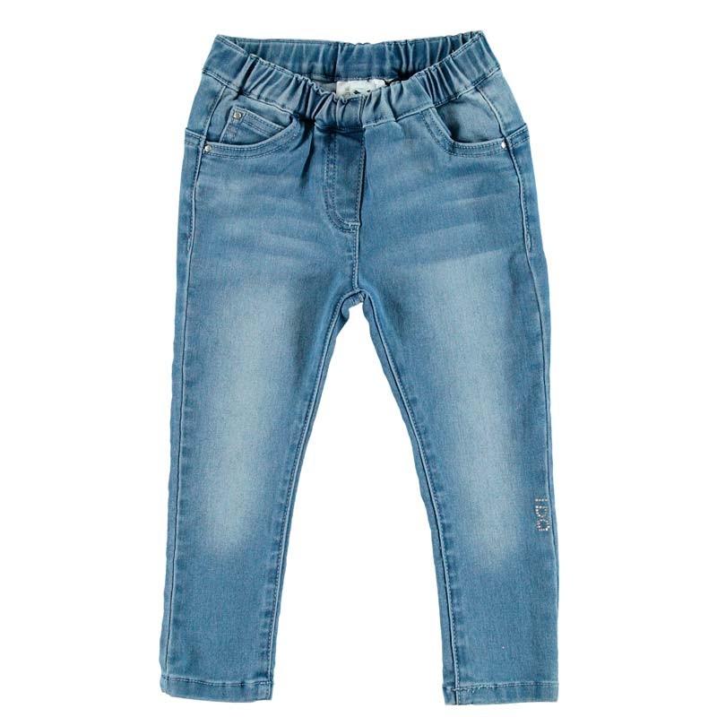 pantalón vaquero niña ido azul con cintura de goma