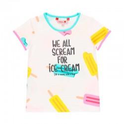 camiseta niña boboli blanca de helados