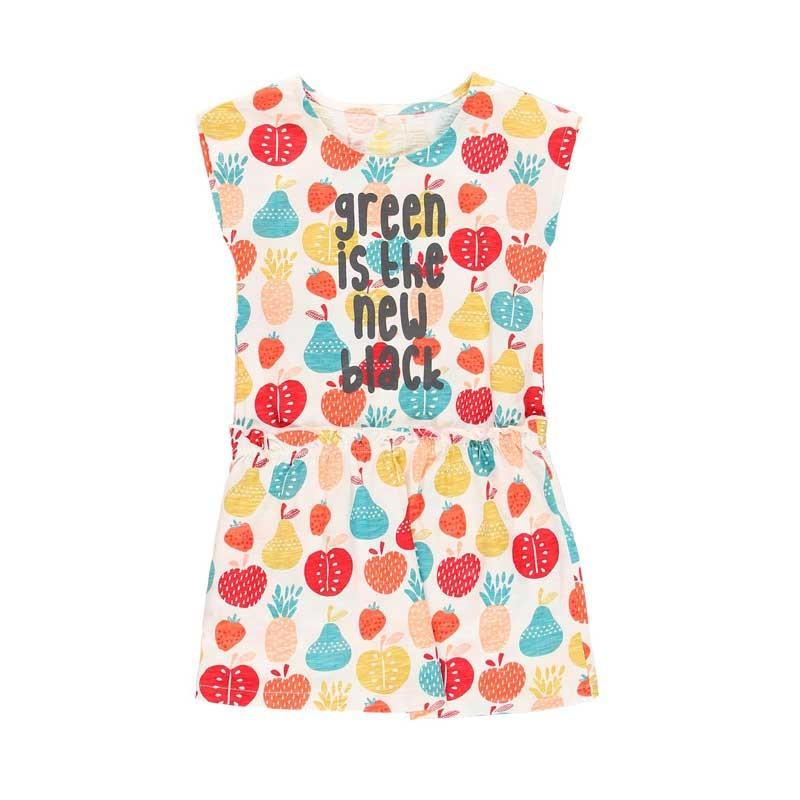 vestido niña boboli de punto estampado frutas