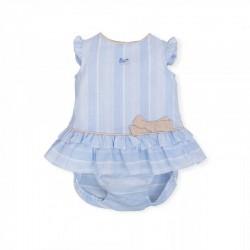 vestido bebe azul de tutto piccolo de verano