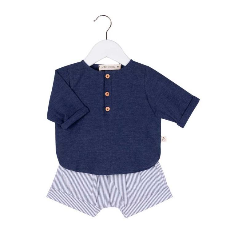 conjunto bebe niño azul marino de cotet cotet