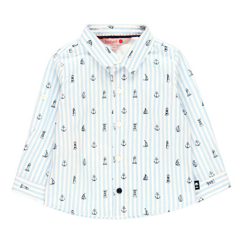 camisa niño boboli estampado marinero