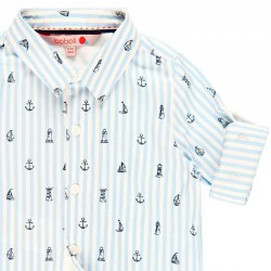 detalle camisa niño boboli estampado marinero