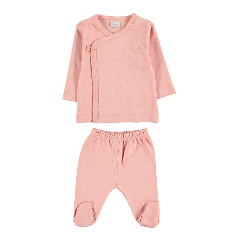 conjunto primera puesta bebe rosa petit oh