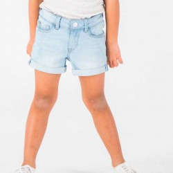 Short denim de niña azul...