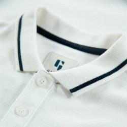 polo niño manga corta de garcia jeans blanco