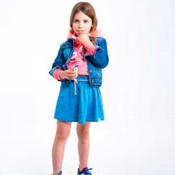 Falda denim de niña azul...