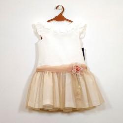 vestido niña de ceremonia marron de bas marti
