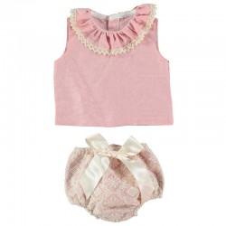 Conjunto bebé niña rosa y...