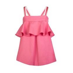vestido niña de tirantes color fresa de eve children