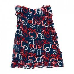 vestido niña boboli de gasa estampado letras