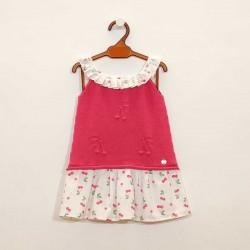 vestido niña de punto fresa con cerezas
